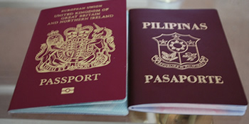 dual passport -- Philippines and England