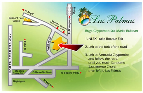 Las Palmas Bulacan Vicinity Map
