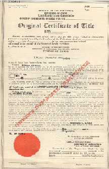 Original Cerificate of Title Philippines